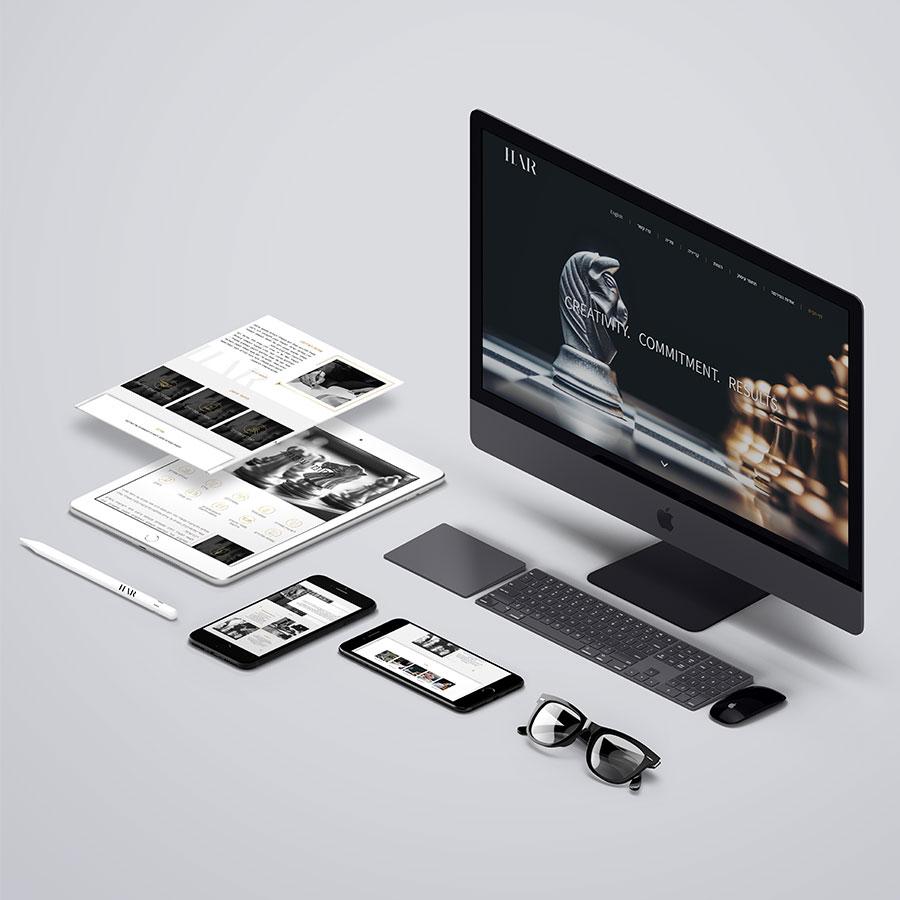 עיצוב ובניית אתר תדמית דו שפתי לפירמת עורכי דין