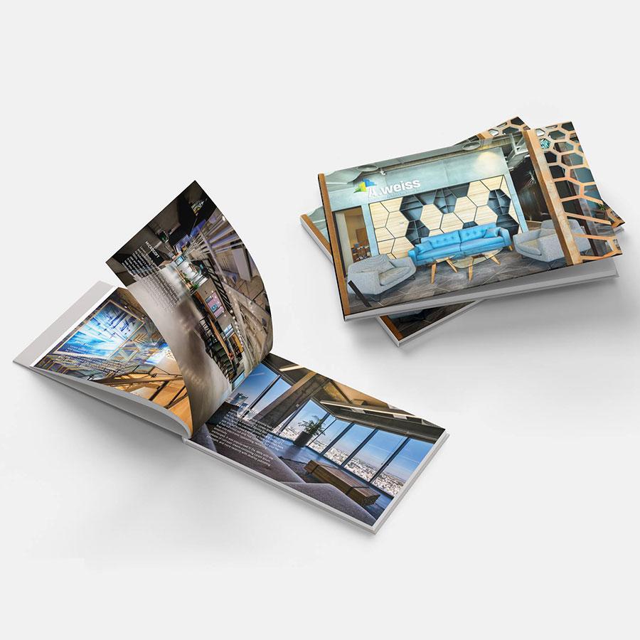 עיצוב ספר פרויקטים לחברת נדל''ן