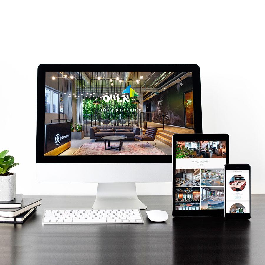 עיצוב ובניית אתר תדמית דו שפתי לחברת נדל''ן
