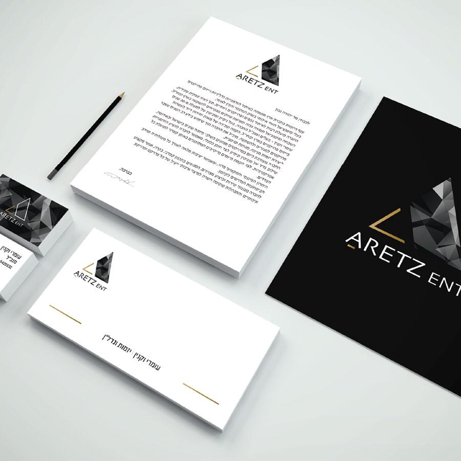 עיצוב ניירת משרדית עבור חברת נדל''ן