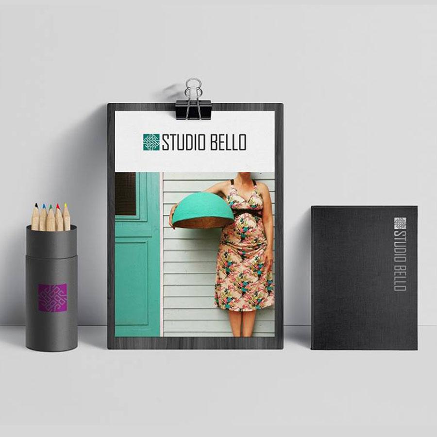 עיצובתוצרי מיתוג לסטודיו לעיצוב