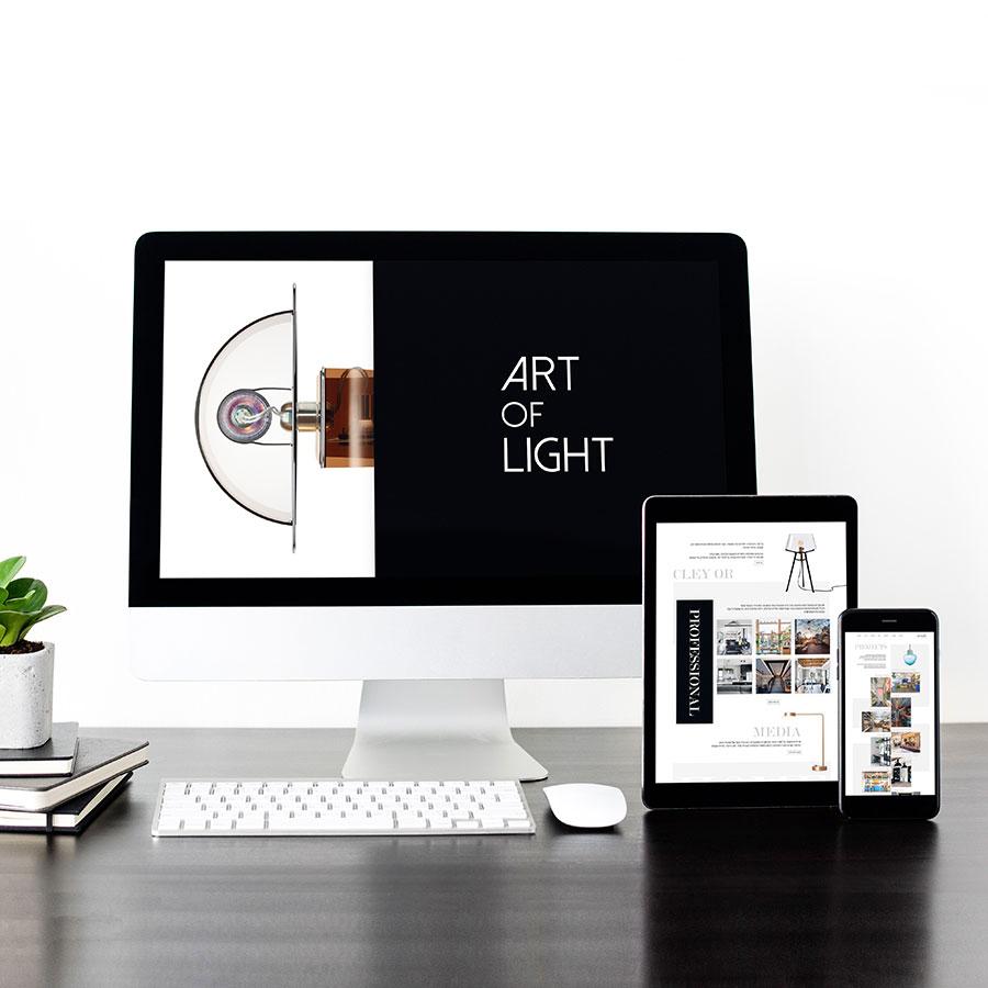עיצוב ובניית אתר שיווק ותדמית לחברת תאורה