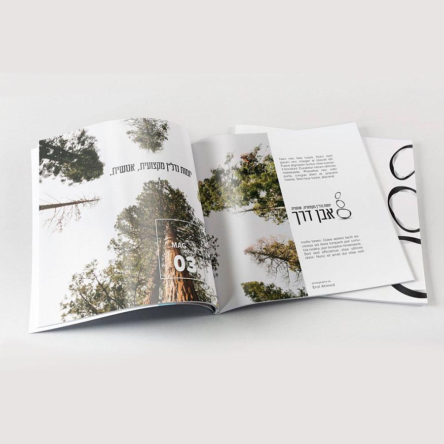 עיצוב חוברת תדמית לחברת נדל''ן