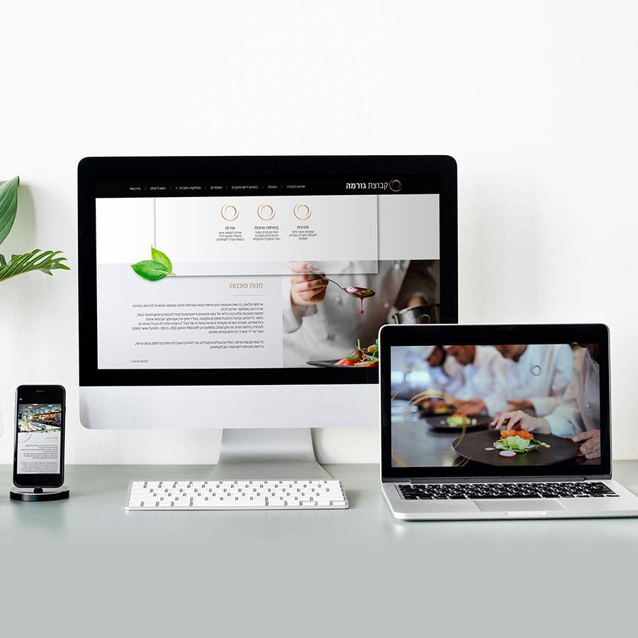 עיצוב ובניית אתר שיווק ותדמית לקבוצת הסעדה