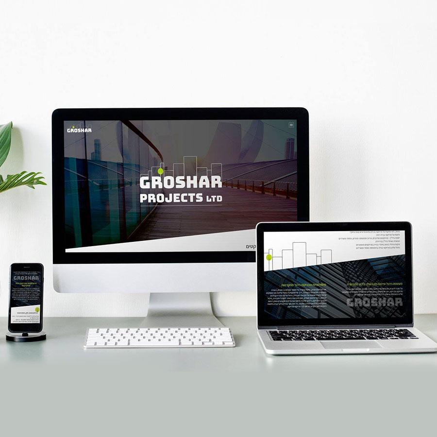 עיצוב ובניית מיניסייט תדמיתי לחברת ניהול פרויקטי נדל''ן