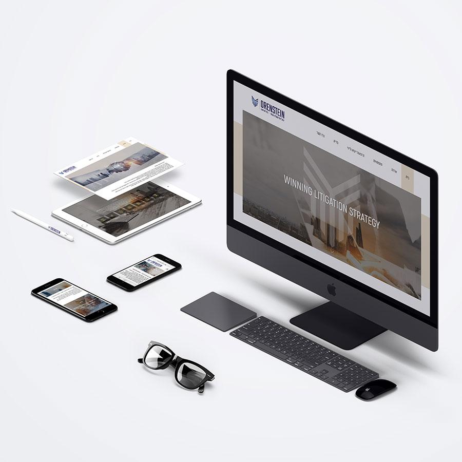 עיצוב ובניית אתר תדמית לפירמת עורכי דין
