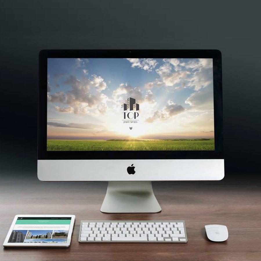 עיצוב ובניית אתר תדמית ושיווק לחברת נדל''ן