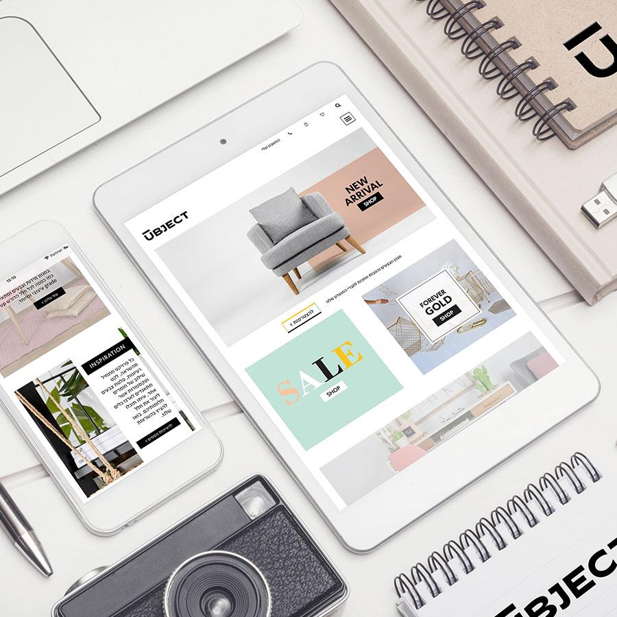 פיתוח ובניית אתר מכירות לחברת עיצוב וריהוט